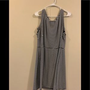 Merona Black and White Striped Dress